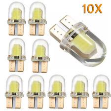 10X T10 194 168 Bombillas LED W5W 8SMD Canbus Lámpara de licencia de sílice Blanco Brillante