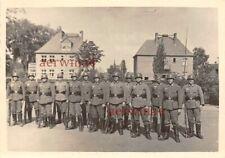 Gruppenfoto deutsche Soldaten Ausbildung Ostrowo Polen