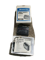 Vintage Sanyo M 1130 Cassette Player Recorder Voice Activated Walkman