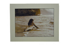 """Seldom Scene Matted Print 11""""H x 14""""L Mermaid Themed Photography Framed Picture"""