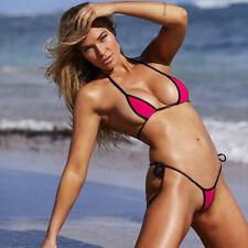 Womens Sexy Micro Bikini Set Bra Top +Mini G-string Thong Swimwear Swimsuit