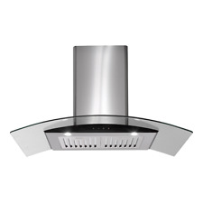EUROMAID KITCHEN RANGEHOOD CANOPY 900MM 90CM GLASS DELUXE COOKER RANGE RGT9
