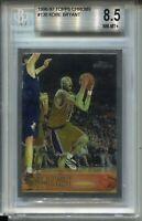 1996 Topps Chrome Basketball 138 Kobe Bryant Rookie Card BGS NM Mint+ 8.5 Lakers