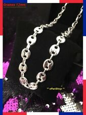 Chain Coffee Grain Necklace Steel Man Woman Color Silver Chain NEW FAST SHIPPING