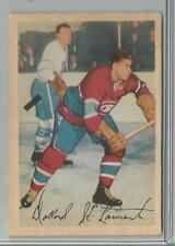 1953-54 Parkhurst Hockey Dollard St. Laurent Card # 23 VgEx Condition Set Break