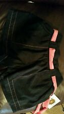 Zumba Fitness Zumbawear tags no UPC black/peach belt sz medium