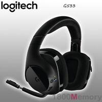 GENUINE Logitech G533 7.1 DTS Surround Sound Wireless Gaming Headset Black
