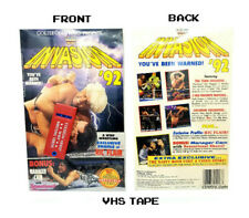 WWE WWF Invasion 1992 VHS Tape SEALED Coliseum Rick Flair WWE Retro Vintage NEW