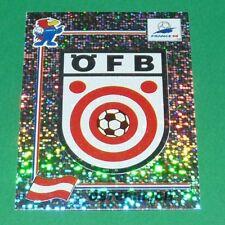 N°139 BADGE ECUSSON ÖSTERREICH PANINI FOOTBALL FRANCE 98 1998 COUPE MONDE WM