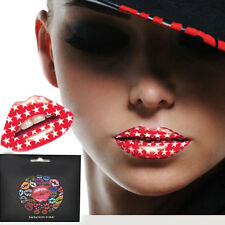 TEMPORARY LIP TATTOO STICKER TRANSFER TATTOOS FANCY DRESS PARTY HEN NEW YEAR