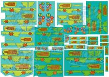 Scooby Doo Mystery Machine Decal in 1:64 Scale for Hot Wheels Diecast Cars