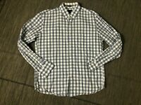 J Crew Adult Mens Large Button Down Shirt Slim Fit Gingham Blue A9329