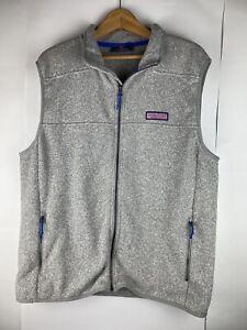 Vineyard Vines Vest Mens XL Gray Zip Up Jacket