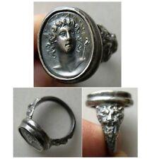 PCW-SR010-Helios - A custom-made Silver Cameo Ring.