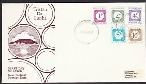 TRISTAN DA CUNHA 1976 POSTAGE DUES ON FDC FIRST DAY COVER