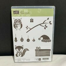 Stampin Up COZY CRITTERS Fox Owl Animals Christmas Holiday Rubber Stamps Set