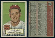 (53219) 1952 Topps 339 Russ Meyer Phillies-GD+