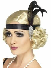 Ladies Flapper Feather Headband Charleston Headdress Gatsby 1920s Fancy Dress