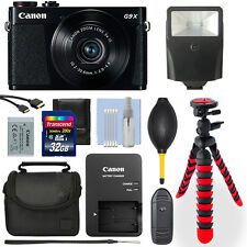 Canon Powershot G9X 20.2MP Digital Camera Black + 32GB Deluxe Accessory Package