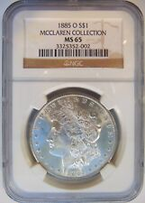 1885 O Silver Morgan Dollar NGC MS 65 McClaren Hoard Pedigree Collection Coin