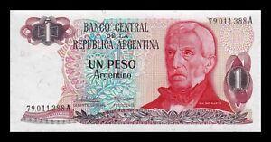 B-D-M Argentina 1 Peso Argentino 1983-1984 Pick 311a(2) Serie A SC UNC