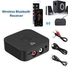 Receptor Bluetooth Inalámbrico Hogar 2 Música Estéreo Audio RCA 3.5mm AUX Adaptador De Coche