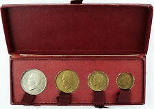 RARE BOXSET 4 TESTING MONACO RAINIER III , 100, 50, 20, 10 FRANCS 1950 , FDC