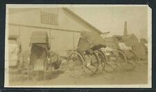 Rare SINGAPORE PHOTO c.1929 RICKSHAWS LINED UP ALONG BUILDING Malay State