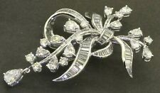floral ribbon brooch w/ 0.75Ct center New listing