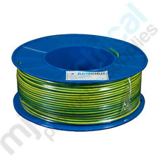 2.5mm Earth (Green/Yellow) Building Wire Electrical Cable NEW 100mtrs