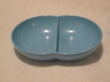 Vintage Branchell Melmac Color Flyte Aqua Divided Serving Bowl Mid Century
