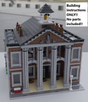 LEGO City Hall BUILDING INSTRUCTIONS ONLY!! NO PARTS!! 10182 10185 10190