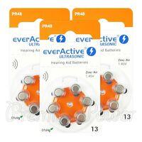 everActive Hearing aid 13 Size batteries Zinc Air PR48 1.45V Mercury free 6 - 60