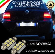 COPPIA LUCI TARGA 6 LED PER VW GOLF 4 IV CANBUS NUOVO MODELLO 100% NO ERRORE