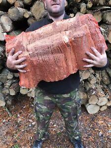 Seasoned Logs - Hardwood - Dry - nets - sacks - log burner - Firewood - Stafford