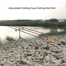 Adjustable Retractable Carp Fishing Rod Pods Stand Holder Folding Rod Pod P5T0