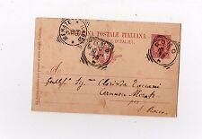 cartolina postale italiana viaggiata del 1894