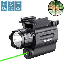 600 Lumens Compact Green Red Laser Gun Weapon Pistol Light Led Flashlight Combo