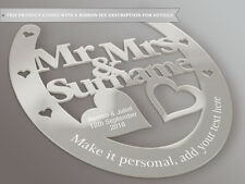 Personalised Wedding Mr & Mrs regalo a ferro di cavallo