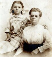1910 Grandmother and Young Girl w Glasses Spectacles Real Photo RPPC Postcard LK