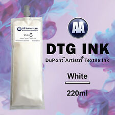 DTG Ink White 220ml DuPont Artistri Ink for Direct to Garment Printer Best Price