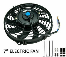 """Universal 7"""" 178mm Radiator Electric Cooling Fan Slimline Front or Rear Mounted"""