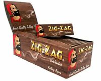 Zig Zag Unbleached Standard Regular Cigarette Rolling Papers 50 BOOKLETS BOX