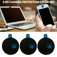 3in1 Webcam Cover Camera Shield Privacy Protect Sticker For Laptop Tablet Phone