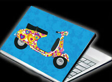 "Aufkleber Skin Case Cover f. 15.6"" Notebook Laptop ROLLER MOPED  NEU"