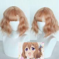 Blend S Burendo Esu Mafuyu Hoshikawa Gold Short Curly Wavy Cosplay Full Wigs