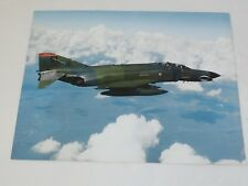 McDonnell Douglas Aircraft F-4 PHANTOM II Factory Color Photo with specs 8 x 10""