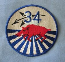 USN- 34TH SQUADRON Patch.