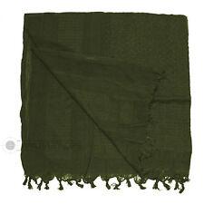 Shemagh Originale 100% Coton Uni Vert Olive Arabe Désert Écharpe Armée SAS
