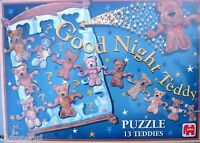 JUMBO GOOD NIGHT TEDDY PUZZLE  * 13 TEDDYS * NEU